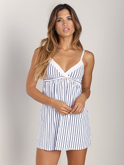 Splendid Drawstring Chemise Navy Rope Stripe