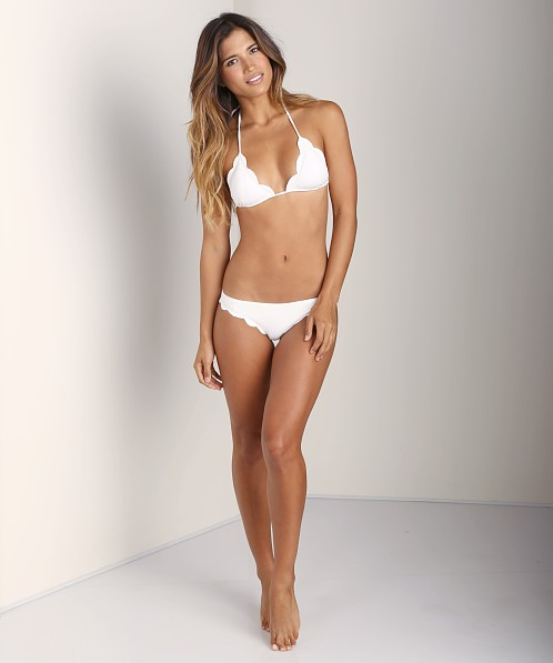 Marysia Scalloped Triangle Bikini Morning Dew