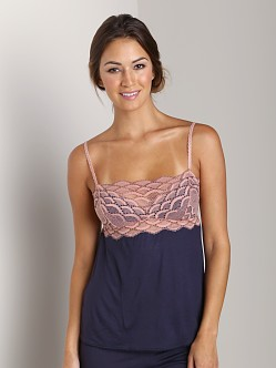 Eberjey Mabel Camisole Deep Blue/French Nude