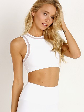 Beyond Yoga Perfect Illusion Bra White
