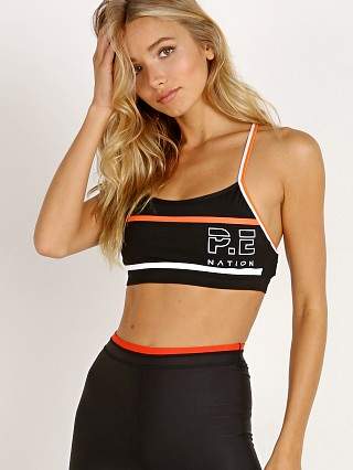 PE NATION The Chariot Crop Bra Black