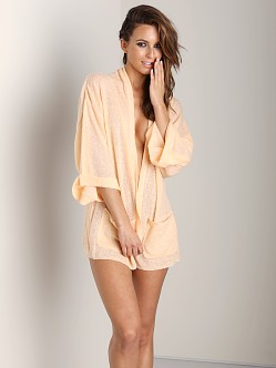 WILDFOX White Label Slouch Cardi Nude Beach Bound Coral Shell