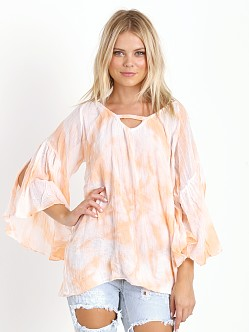Jen's Pirate Booty Sage Whisper Tunic Peach/White