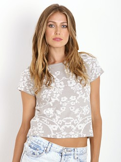 For Love & Lemons KNITZ Cuddle Up T-Shirt Dove Floral