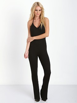For Love & Lemons KNITZ Back to Basics Jumpsuit Black