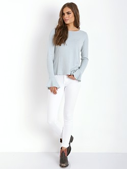 For Love & Lemons KNITZ Nightcap Sweater Powder Blue
