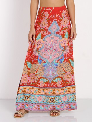 Spell Lotus Maxi Split Skirt Ruby