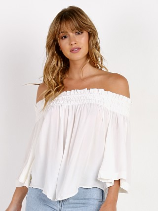 Indah Harper Off the Shoulder Top Ivory