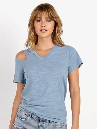 LNA Clothing Pine Cut Out Tee Blue Shadow
