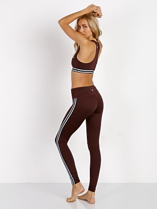 Spiritual Gangster Athletic Stripe Legging Burgundy