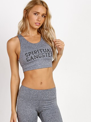 Spiritual Gangster SG Varsity Tech Crop Bra Heather Grey