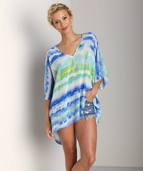 Show Me Your Mumu Peta Tunic Popsicle Blue