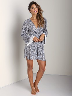 Stone Cold Fox Stone Robe Blue Print