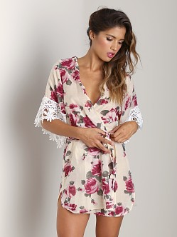 Stone Cold Fox Fox Robe Rose