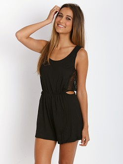 Only Hearts Venice Cut Out Romper Black