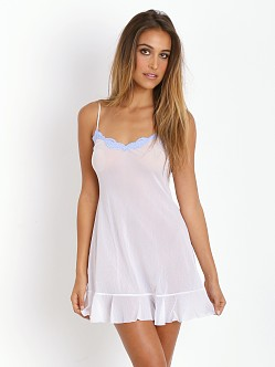 Only Hearts Tulle Ruffle Chemise White/Sky