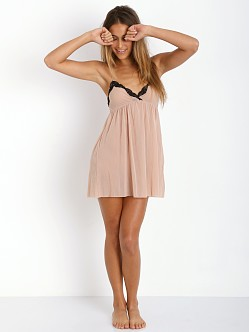 Only Hearts Tulle Racerback Chemise Nude/Black