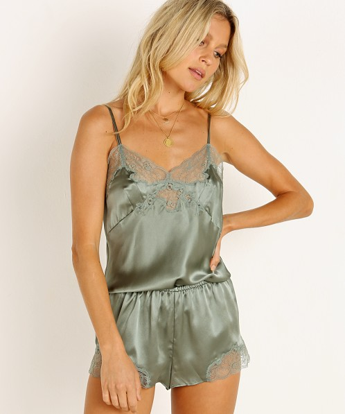 Only Hearts Silk Charmeuse Cami Olive