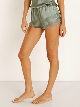 Only Hearts Silk Charmeuse Tap Short Olive