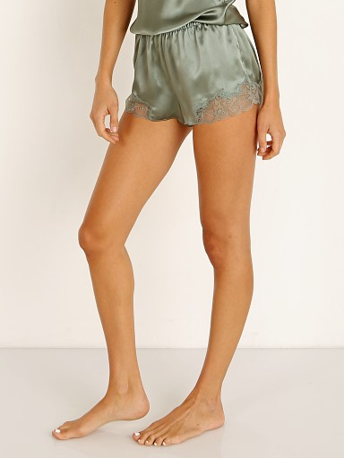 Model in olive Only Hearts Silk Charmeuse Tap Short