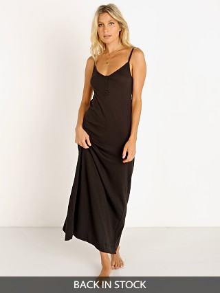 Model in black Only Hearts Organic Cotton Chemise
