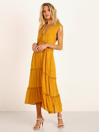 Auguste the Label Farrah Midi Dress Ocher