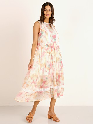 Auguste the Label Lumi Wren Midi Dress Off White Tie Dye