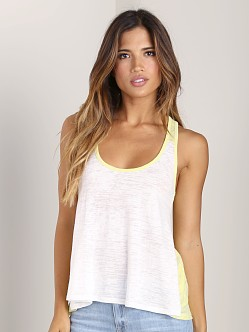 Nation LTD Copper Canyon Tank White/Lemongrass