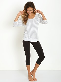 Beyond Yoga Baby Stripe Pullover Light Heather