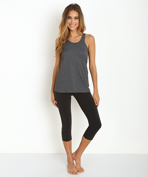 Beyond Yoga Diamond V-Back Tank Heather Grey