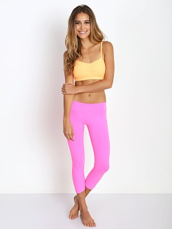 Beyond Yoga Back Gather Legging Shocking Pink