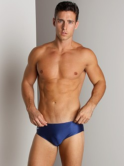 Speedo Solid Lycra Racing Suit Navy