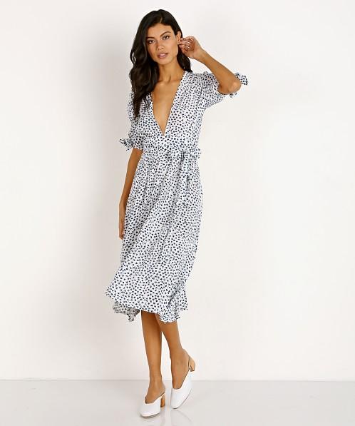 first look footwear fashion style Faithfull the Brand Nina Midi Dress Rae Floral Print FF1136-RFB ...