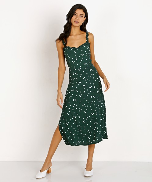 Faithfull the Brand Gizele Midi Dress Linnea Dot Print