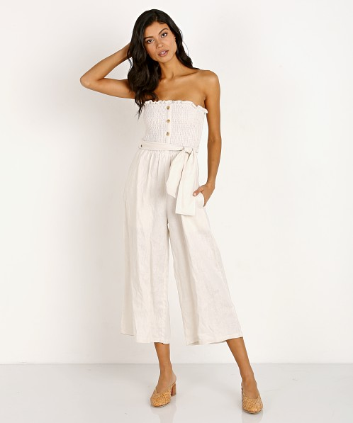 Faithfull the Brand Lais Jumpsuit Plain Ecru