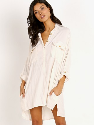 Faithfull the Brand Baia Shirt Dress Plain Ecru