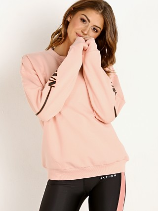 PE NATION The Half Run Sweater Light Salmon