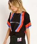 PE NATION Bench Sprint Tee Black, view 3