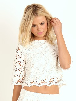 Nightcap Daisy Crop Top White