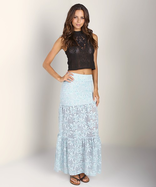Nightcap Desert Bloom Lace Skirt Sky
