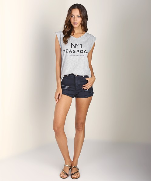 One Teaspoon No 1 Memphis Tank Grey Marle