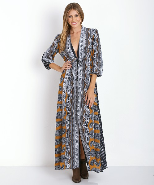 Novella Royale Midnight Alley Maxi Dress Navy Daisy