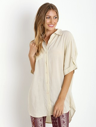 Novella Royale Stevie Button Down Blouse Winter White