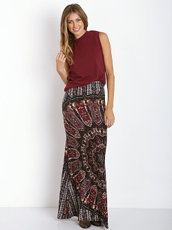 Novella Royale Broken Wing Maxi Skirt Dark Dial