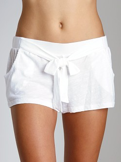 Juicy Couture Slub Knit Basics Short White