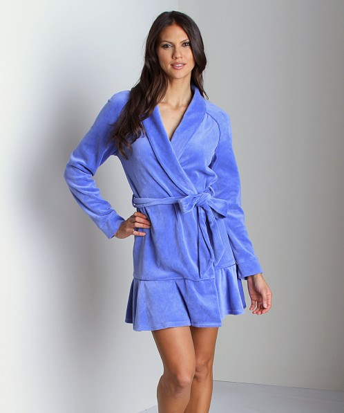 Juicy Couture Velour Robe Bright Periwinkle