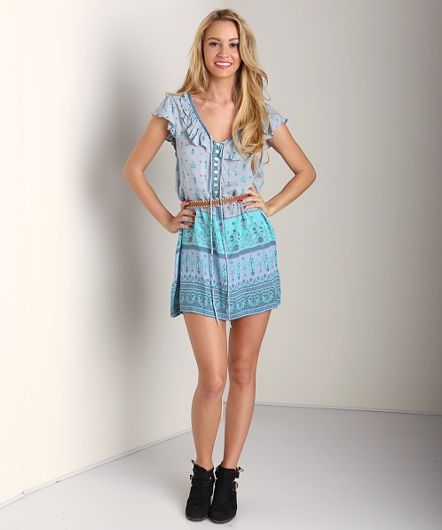 Spell Desert Wanderer Shift Dress Dawn Turquoise Print