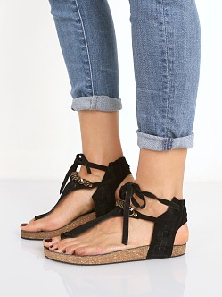 Free People Collins Footbed Sandal Black