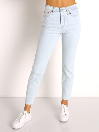 Model in zero gravity Levi's Wedgie Icon Fit Jeans