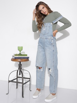 Model in bright light Levi's Vintage Overall